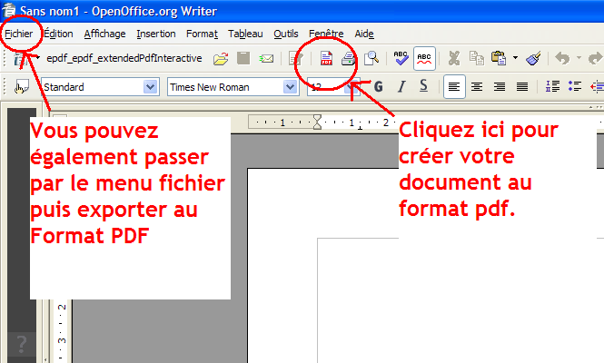 Comment cr er un ebook au format pdf gratuitement - Realiser un organigramme open office ...