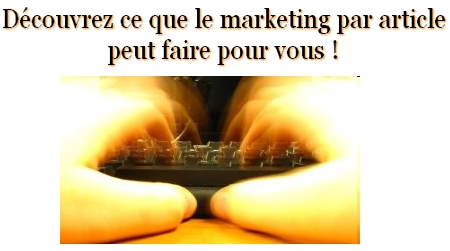 article de marketing